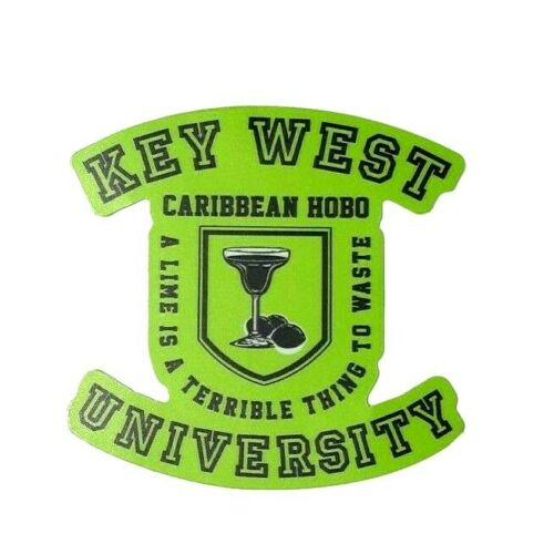 Key West University Lime Margarita Caribbean Hobo Sticker decal taquila  Havana