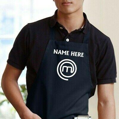 Cook Master - Custom Name Chef Apron Adults Unisex Whiteblackrednavygreen