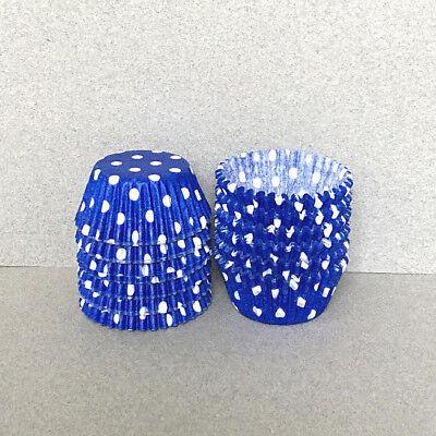 Royal Blue Cupcake Liners (MINI Royal Blue Polka Dot Cupcake Liners, Mini Cupcake Wrappers, Blue Candy)