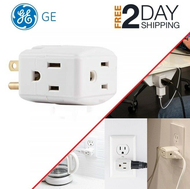 Wall Socket Splitter Divider Cube Electrical Multi Plugs 3 O