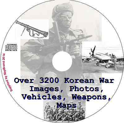 Over 3200 Korean War Images Photos, Vehicles, Weapons, Maps on CD