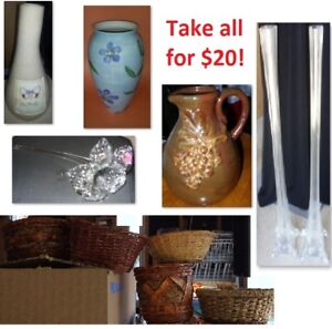 Vases and Plant Pots/Baskets (Take all for $20)