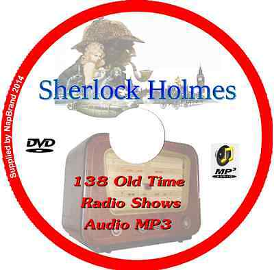The New Adventures of Sherlock Holmes 138 Old Time Radio Shows OTR MP3 Audio DVD