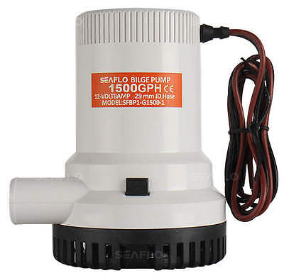SEAFLO Marine Bilge/Sump Pump 1500GPH 12v Unlike Rule - 4 Year Warranty!
