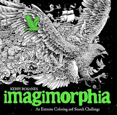 Best Coloring Book for Adults IMAGIMORPHIA Stress Relief Relaxation Therapy Page