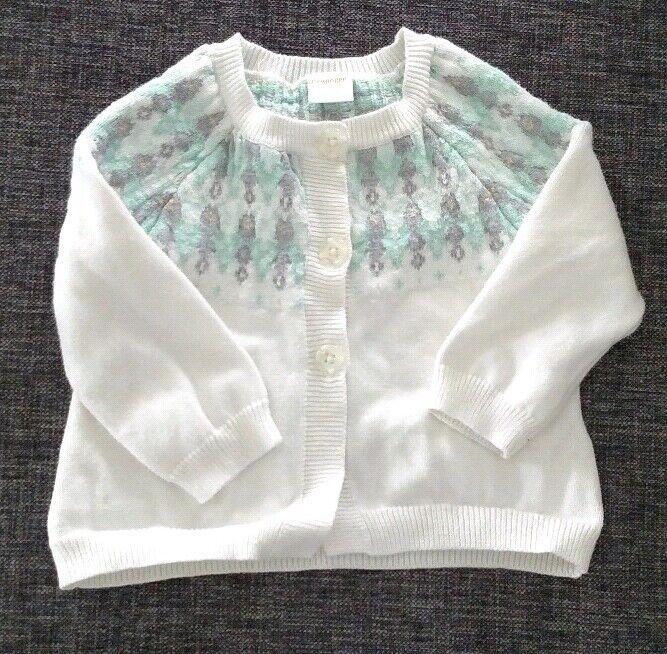 Adorable Gymboree Fair Isle Sweater Size 12-18 Months * EUC * white