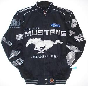 FORD-MUSTANG-Black-Cotton-Jacket-JH-Design-NEW-XXL