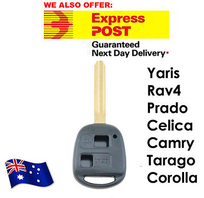 Toyota Prado RAV4 Echo Corolla Remote Car Key Blank Button Shell/Case/Enclosure