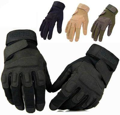 Finger Assault Gloves - MILITARY POLICE SWAT TACTICAL COMBAT ASSAULT SHOOTING FULL FINGER GLOVES