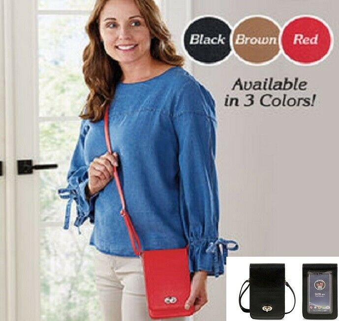 """Touch Screen Purse """"ELEGANCE"""" RFID Cell Phone Cross-Body bag 8 Credit Card Slots Cell Phone Accessories"""
