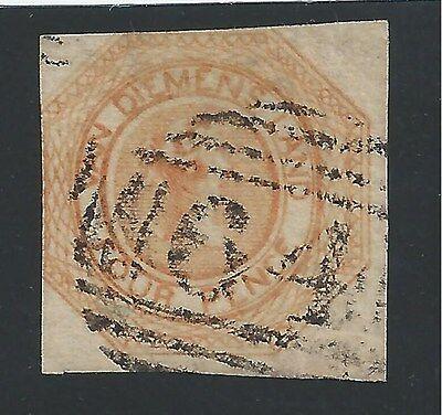 AUSTRALIAN STATES --  TASMANIA  #2  USED - 1853 - RED