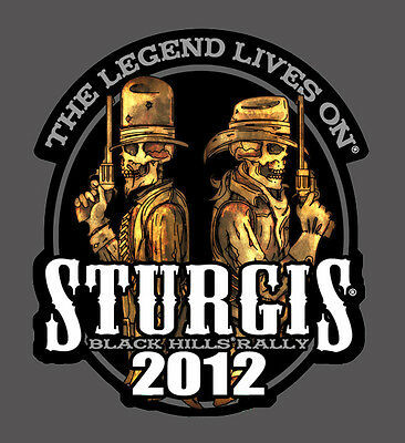 Outlaw Anarchy 2012 Sturgis Rally Embroidered Biker 4 Inch Patch