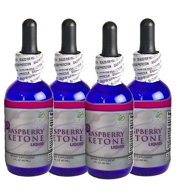 Raspberry Ketone Drops - 8 Ounces (4-2oz Bottles) 4 Month Supply