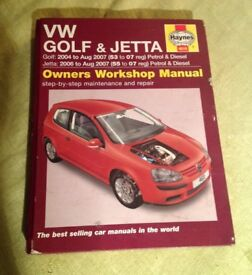 VW Golf/ Jetta Haynes Manual