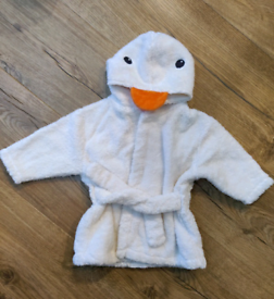M&S Duck Baby Dressing Gown 3-6 months