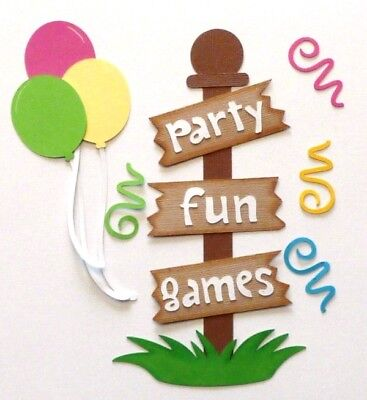 Paper Pieced Title & Accents for Scrapbook Pages, Birthday, Balloons, Yard Sign - Yard Signs For Birthday