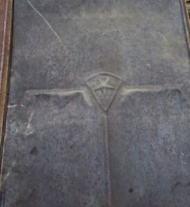 Antique barn roof tin with star