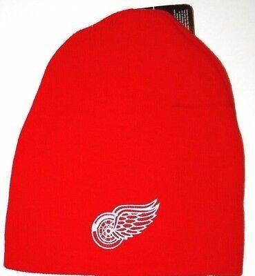 Detroit Red Wings NHL Team Logo Knit Hockey Winter Hat/Beanie/Toque  OSFM