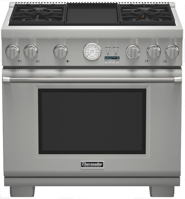 Thermador PRG364JDG Pro Grand 36 Inch Pro-Style Gas Range w/
