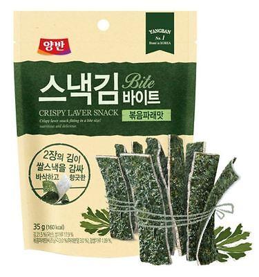 DongWon YangBan Crispy Laver Snack Bite Kim With Stir-fried Green 35g X16Packs
