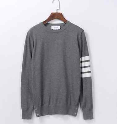 Thom Browne Long sleeve Grey Striped Sweater  Size4(XL)