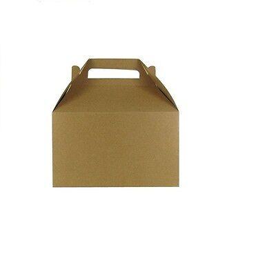 Kraft Paper Gable Boxes SET OF 10 - Kraft Gable Boxes