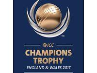 ICC Champions Trophy 2nd Semi-Final A2 -B1 , Birmingham. Gold tickets