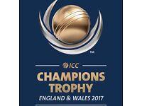 2 x Champions Trophy 2nd Semi Final Platinum Tickets