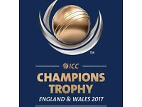 India V South Africa (ICC Champions Trophy) x 2 Tickets