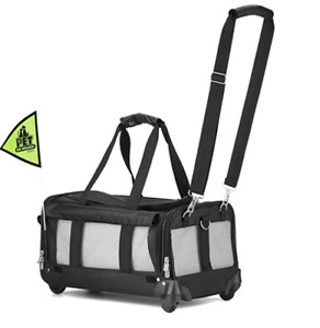 Sherpa large airplane approved pet travel carrier with wheels
