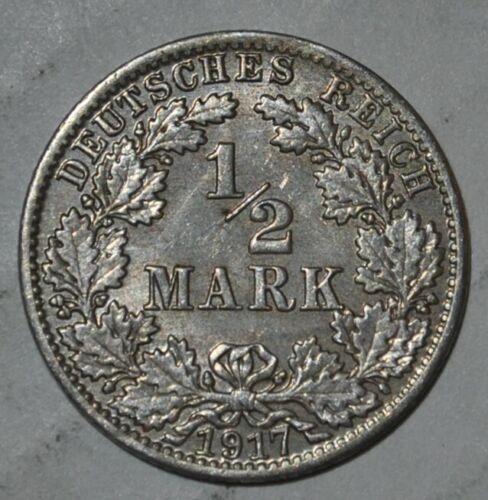 Germany 1/2 Mark 1917 A  (G118)