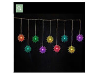 Curtain Light with 9 Colour Changing Snowflake LEDs