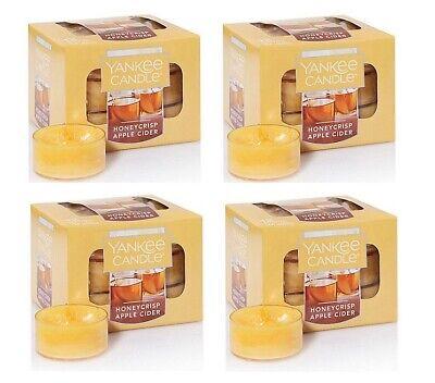 Yankee Candle Honeycrisp Apple Cider 12 Pack Scented Tea Lights - x4