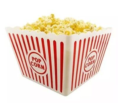 I.Q. Accessories Plastic Popcorn Tub, Square, Party, Red And White, NEW, NWT](Plastic Party Tub)
