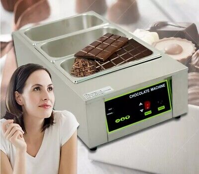 3 Tanks Chocolate Melting Pot Chocolate Warmer Chocolate Tempering Machine