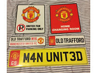 Job lot of 5x Man Utd metal plates
