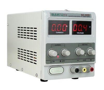 5a 30v Adjustable Dc Power Supply Precision Variable Dual Digital Lab Test 110v