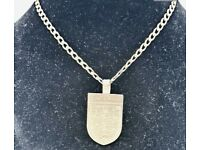 9ct Gold (Stamped 375) England Pendant on 44cm 9ct Gold Neck Chain..(Total Weight 7.8 Grammes)