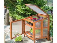 mini wooden Greenhouse is perfect for deckings or balconies.