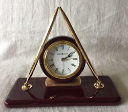 Howard Miller 613-588 Rosewood Desk Clock W/ Alarm And Pens
