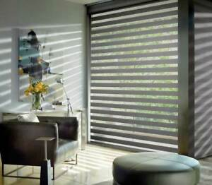 ZEBRA SHADES-AFFORDABLE BLINDS & SHADES-FAUX WOOD & WOOD BLINDS-