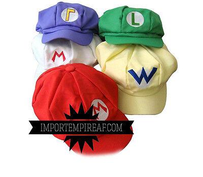 tze Hut Cosplay Kostüm Wario Waluigi Luigi Feuer Hat (Luigi Kostüm Hut)