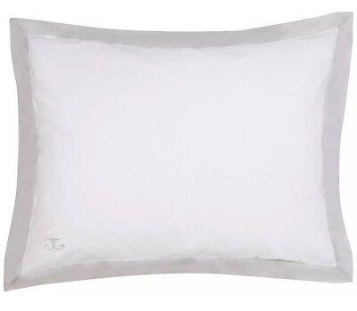 Jill Rosenwald Copley Buckley Chevron Standard Sham - Reversible - Grey/White