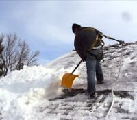 Residential/cottage roof snow removal
