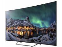 """Sony KD65S8005CBU 65"""" Smart 3D 4K Ultra HD Curved TV - Black"""