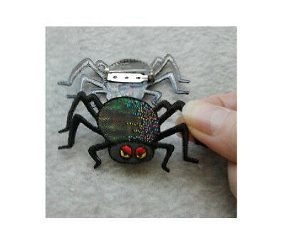 Halloween Jewlery (Spider - Black - Insect - Halloween - Pin Brooch -)
