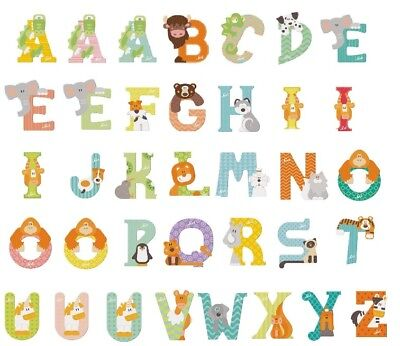 e A-Z Holzbuchstaben NEU (Tier Buchstaben)