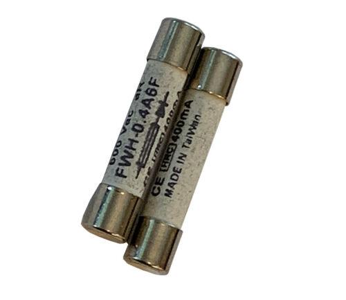 CERAMIC FAST FUSES FOR DIGITAL MULTIMETERS - 400mA / 600V (2 PACK) 0.4A