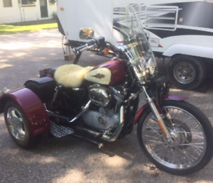 Harley Davidson 883 Sportster with Trike Attachment