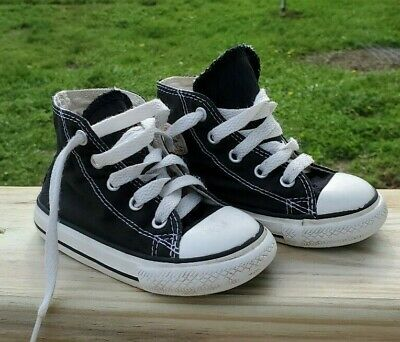 Converse All Star Chuck Taylor Infant/Toddler  Hi top Shoes Sz 6 Black